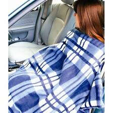 LARGE ELECTRIC HEATED CAR WINTER EMERGENCY TRAVEL BLANKET THROW 12 VOLT RUG VAN