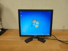 "DELL E176FPC 17"" WideScreen TFT LCD Monitor Black w/VGA Video Cable WORKING"