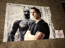 CHRISTIAN BALE AUTOGRAPHED SIGNED 11x14 PHOTO THE DARK KNIGHT COA GLOBAL GA