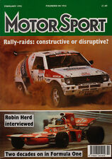 Motor Sport Feb 1992 - Rally Raids, Donald Campbell, Cunningham C4R, A McNish
