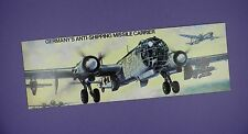 Airfix Shop Advertising Card 1970s - Heinkel HE 177 Grief A/S Missile Carrier