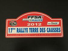 AUTOCOLLANT PLAQUE 17E RALLYE TERRE DES CAUSSES 2012 FFSA TERRE