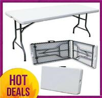 2 X6ft FOLDING BANQUETING CAMPING BBQ PICNIC CATERING MARKET PARTY OUTDOOR TABLE