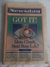 "VINTAGE NEWSDAY FRIDAY, SEPTEMBER 23,1988 ""GOT IT! METS CLINCH,NEXT STOP L.A.? """