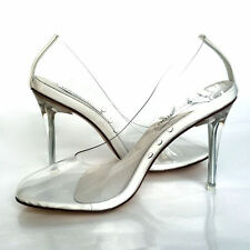 H1 Womens girls Cinderella Transparent High Heels Party Wedding Stilettos Shoes