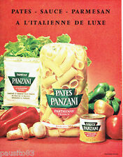 PUBLICITE ADVERTISING 066  1963  Panzani  Parthenay pates sauces parmesan