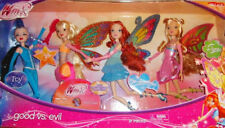 NEW Winx Club Fairy Dolls Good Vs Evil Set Icy Bloom Stella Flora Enchantix DVD