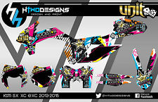 KTM 125 250 350 450 SX SXF 2013-2015 GRAPHIC KIT EXC DECAL KIT STICKERS GRAPHICS