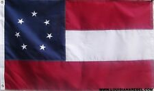 NYLON FIRST NATIONAL FLAG - EMBROIDERED STARS AND SEWN STRIPES - 1ST DIXIE