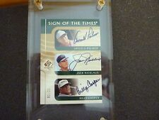 Upper deck # 1 of 25 super golf autograph Jack Nicklaus Arnold Palmer Card rare