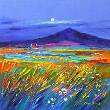 Stunning Fraser Milne Original Oil Painting - South Uist Landscape Scotland