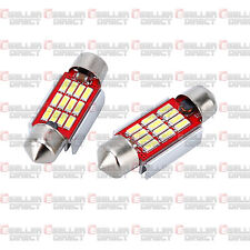 Bmw E46 M3 E39 E60 E61 Blanco Led Canbus C5w matrícula blubs 3 Smd Brillante