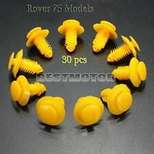 30x Clips Sill Kick Plate Cover Trim Retainer Fasteners Yellow For Rover 75 ZT