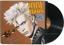 Punk  BILLY IDOL LP Whiplash Smile UK original + Inner sleeve + Sticker EXC+