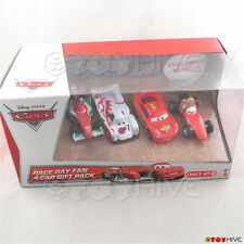 Disney Pixar Cars 2 Race Day Fan 4-car gift pack Mama Bernoulli Target - worn