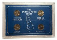 1982 The Twenty Pence Pieces Set form UK, Jersey, Guernsey and Isle of Man