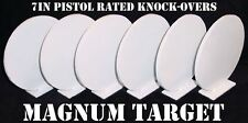 Steel Shooting Targets - 7 Inch Round Knockovers - NRA Action Pistol Plates