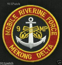 Mobile Riverine Force 9th MP Mekong Delta Vietnam Military Police Patch