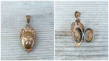 Antique French Victorian vermeil locket