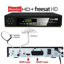 FULL HD COMBO Freeview HD & Free Satellite HD Receiver TV Set Top Digi Box T2+S2