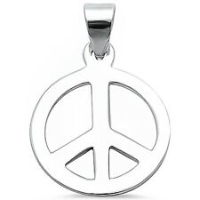Peace Sign  .925 Sterling Silver Pendant