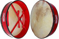 BODHRAN DRUM Irish Celtic 18 Inch Drums + CASE + 2 Tippers RED 02