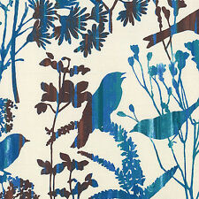 Wings - Birds in Wildflowers - Cream - Quilting Fabric