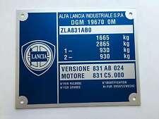 Plaque constructeur LANCIA - LANCIA  vin plate - Typenschild LANCIA