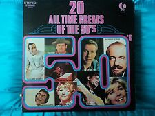 """K-Tel Compilation - 20 All Time Greats Of The 50s 12""""  Stereo Vinyl LP 1972 ~ VG"""