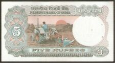 FIVE RUPEE NOTE - ASHOKA - I G PATEL - SERIAL BUNDLE - B INSET