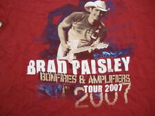 Brad Paisley 2007 Bonfires and Amplifiers MUSIC Tour Graphic Print T Shirt M
