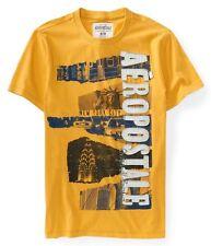 NEW NWT AEROPOSTALE Aero Dark Yellow Iconic NYC Graphic T Tee Shirt Mens XXL