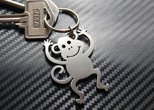 MONKEY Cheeky Ape Primate Animal Keyring Keychain Key Stainless Steel Gift