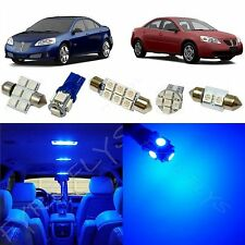 5x Blue LED lights interior package kit for 2005-2010 Pontiac G6 PG2B