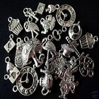 50 x Tibetan Silver Mixed Pendant Charms Alice In Wonderland