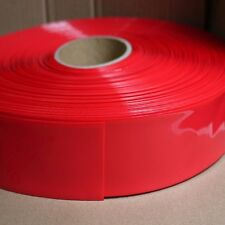 PVC Heat Shrink Tubing 125mm Width 80mm Diameter Red for Battery Cover x 1 Meter
