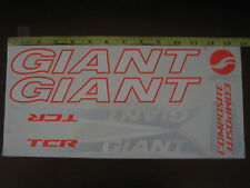 GIANT TCR COMPOSITE Stickers White, Orange & Silver.