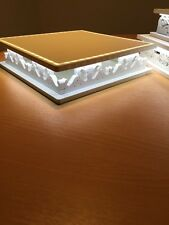 Wedding Cake Stand. LED White, 30cm Square, With Power pack, Made From 10mm