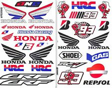 2SHEET. HONDA WING CRF RACING HRC STICKER PRINTED DIE-CUT MOTOR SPORTS BIKE