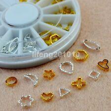 Gold Metal Nail art Molding circle For Nail UV Gel Tips Decorations Design Tools