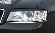RDX Scheinwerferblenden Audi A6 C5 4B Facelift 2001-2004 Böser Blick ABS Blenden