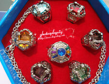 Anime Katekyo Hitman Reborn Vongola 7 PCS Ring + Necklace set