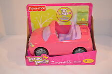 NEW Fisher Price Loving Family Dollhouse Pink Convertible Musical Car