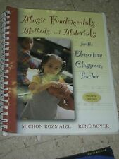 MUSIC FUNDAMENTALS METHODS AND MATERIALS Elementary Rozmajzl Boyer +CD FINE