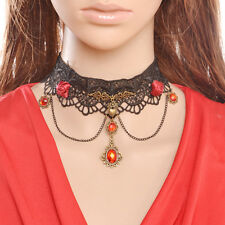 Vintage Gothic Lace Necklace Flower Lolita Bouquet Rose,Wedding Girl Gift