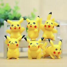 New Set of 6pcs Pokemon Pikachu Cute Character Action Figure Doll Toy decoration