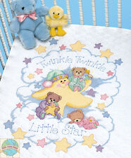 Cross Stitch Kit ~ Dimensions Twinkle, Twinkle Little Star Baby Crib Quilt #3171