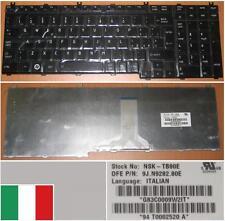 Clavier Qwerty Italien TOSHIBA Qosmio G50 NSK-TB80E 9J.N9282.80E Noir Brillant