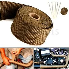 Exhaust Heat Wrap Manifold Downpipe High Temp Insulation Bandage Tape Roll 5M
