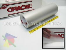 "12"" X 4ft - Oracal 8510 Silver - Fine Etched Glass Craft & Hobby Cutting Vinyl"
